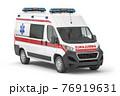 Ambulance car isolated on white. 76919631