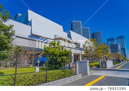 東京の都市風景 中央清掃工場(晴海清掃工場) 76935390