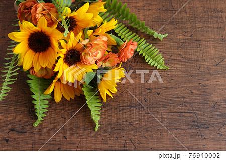 ひまわりの花束 76940002