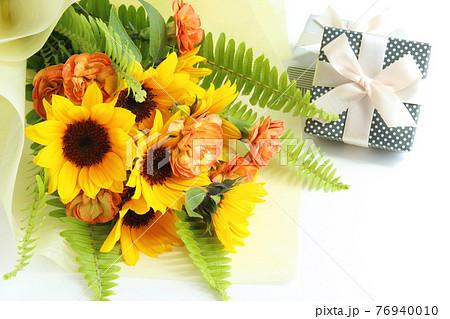 ひまわりの花束 76940010