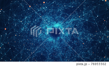 Technology Network Background Concept. 76955502