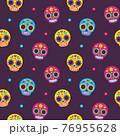 Mexican sugar skulls pattern 76955628