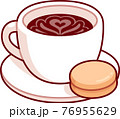 Cup of coffee with cookie 76955629