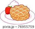 Cartoon Belgian waffles drawing 76955759