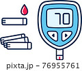 Blood glucose meter illustration 76955761