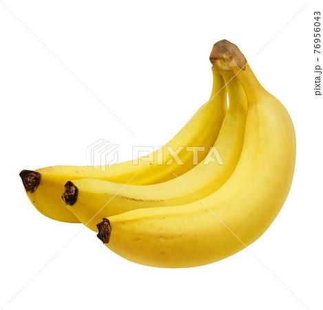 バナナ イラスト リアル 房 76956043