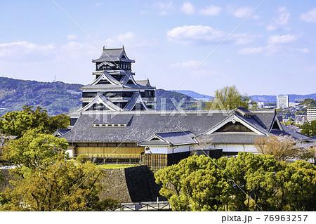 順調に復旧工事が進む熊本城(2021年3月22日撮影) 76963257
