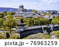 順調に復旧工事が進む熊本城(2021年3月22日撮影) 76963259