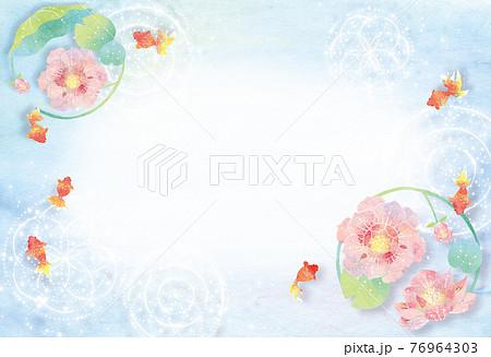 夏 金魚と花 76964303
