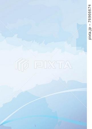 水彩風の水色のポストカード背景-縦 76966674
