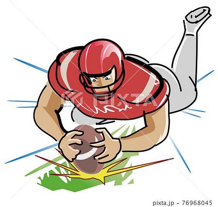 タッチダウン-アメリカンフットボール 76968045