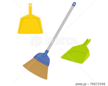 箒と塵取り 掃除道具 76973566