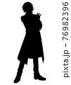 アニメ風の男の子のシルエットイラスト 76982396