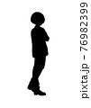 アニメ風の男の子のシルエットイラスト 76982399