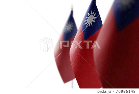 Small national flags of the Taiwan on a white background 76986148