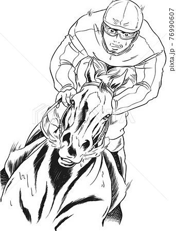 競走馬,騎手,追い込みゴール,正面 76990607