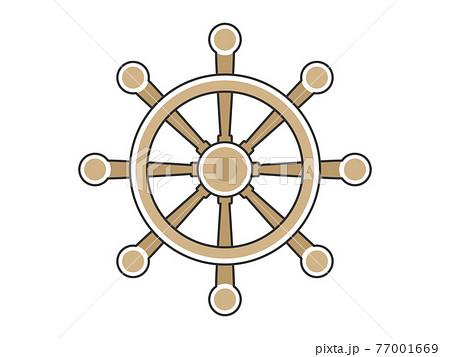 船の舵のイラスト 77001669