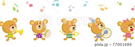 楽しいクマの音楽隊 77001689