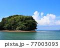 瀬戸内のハワイ、周防大島から見る夏の海と島 77003093