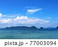 瀬戸内のハワイ、周防大島から眺める夏の海と島 77003094