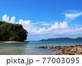 瀬戸内のハワイ、周防大島から眺める夏の海と島 77003095