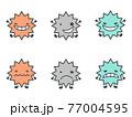 ばい菌 ウイルスイラスト 77004595
