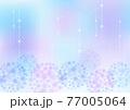 梅雨の紫陽花 背景フレーム 77005064