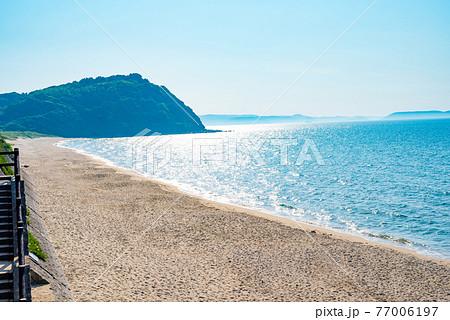 姉子の浜の浜辺 綺麗な海 西向き 77006197