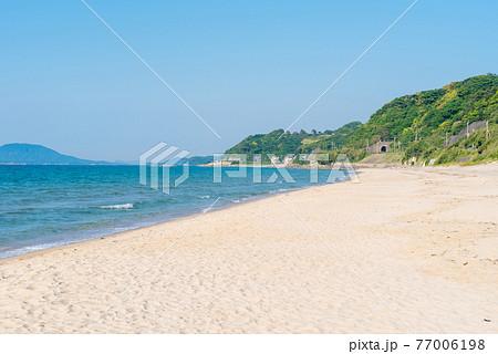 姉子の浜の浜辺 綺麗な海 東向き 77006198