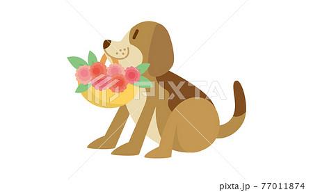 犬のイラスト いぬ イヌ dog 動物 ビーグル犬 77011874