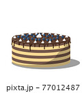 cake topped with chocolate cream and whipped cream 77012487