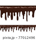 Melted choco syrup on white back ill 77012496