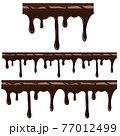 Melted choco syrup on white back ill 77012499