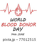 World blood donor day card Vect ill 77012515