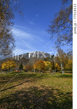 秋の羊蹄山 真狩 77018315