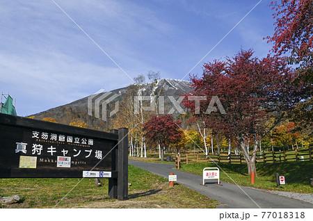 秋の羊蹄山 真狩 77018318