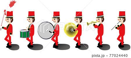 おもちゃの音楽隊のイメージイラスト 77024440