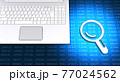 パソコンと情報データをルーペで検索 77024562