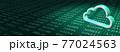 デジタル背景とクラウドアイコン 77024563