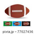 American Football Ball vector illustration 77027436