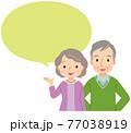 説明する高齢者 シニア 老夫婦 77038919