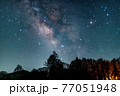 八ヶ岳高原野辺山の天の川と夏の星座 77051948