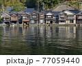 京都 伊根の舟屋(春)   77059440