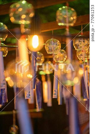 大阪府三島郡島本町の神社・水無瀬神宮の風鈴祭り「招福の風」のライトアップ 77061253