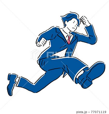 スーツで走るビジネスマン  77071119