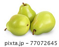 Green pear fruit isolated on white background with clipping path and full depth of field 77072645