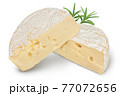 Camembert cheese isolated on white background with clipping path and full depth of field 77072656