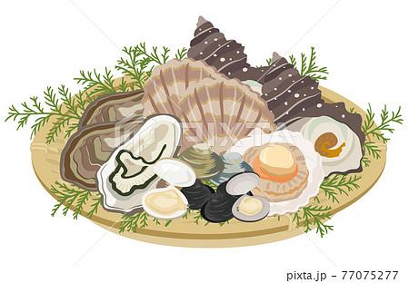 貝類の盛り合わせ 77075277