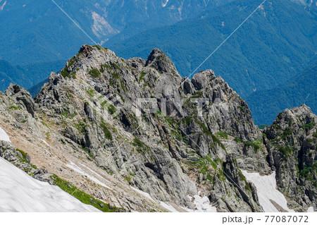 北アルプス剱岳と源次郎尾根の岩稜登攀 77087072