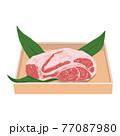 牛肉肩ロースのイラスト 77087980